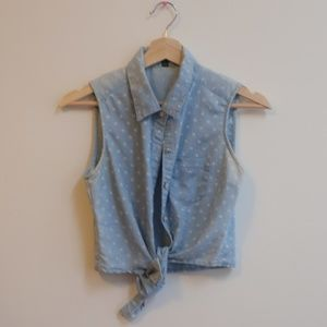 CUTE sleeveless tie front